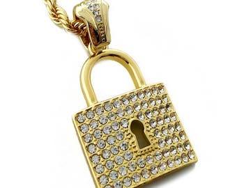 Lock necklace | Etsy