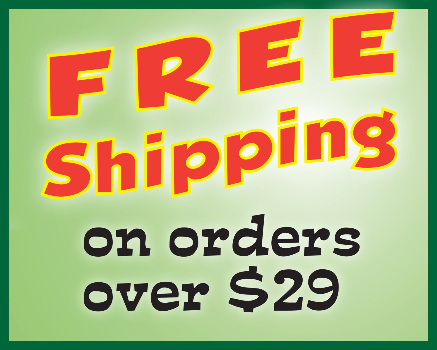 etsy free shipping on orders over
