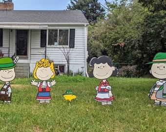 Charlie Brown and Friends Oktoberfest Yard Art Set