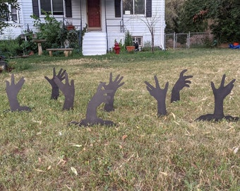Halloween Scary Zombie Arms Yard Art Decorations (Set of 8)