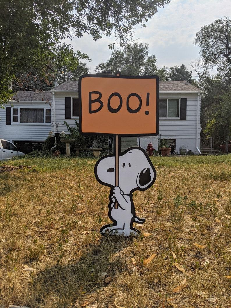 Boo Snoopy Halloween Yard Sign image 1