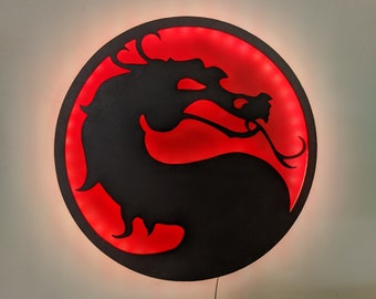 Illuminated Mortal Kombat LED Wall Art