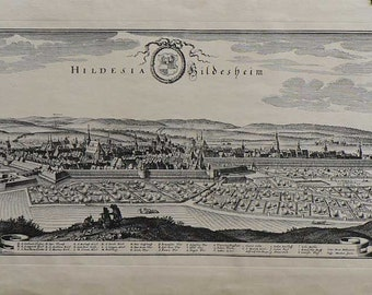 Hildesheim-/Germany 1611 - Cm. 125 x 50 Inches 49,3 19,7 - Large format.