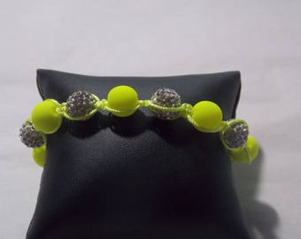 Shamballa neon jaune2