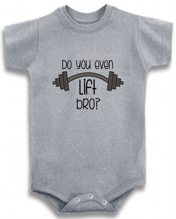 7552d265e Gray Crew neck Do you even lift bro cute funny printed on The