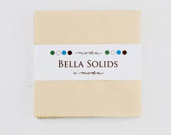 Charm Pack - Natural - Bella Solids