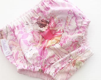 Size 000 Nappy Cover Diaper Cover Bloomers Fairies