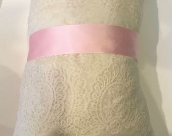 wedding bridal Pink satin elegant sash silk satin bridal belt, flower girl bridesmaids sash