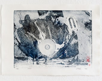 Impact - Intaglio print, unframed