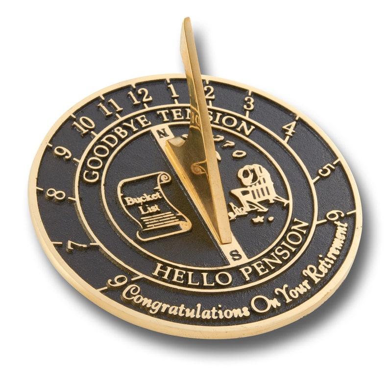 Retirement Sundial  A truly inspired retirement gift image 0