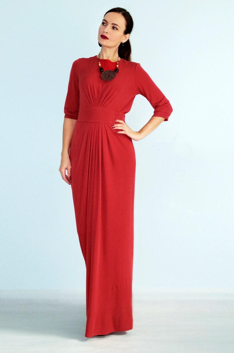 b0b839f0de615 SALE MEDIUM SIZE Red evening dress Formal dress Maxi Dress | Etsy