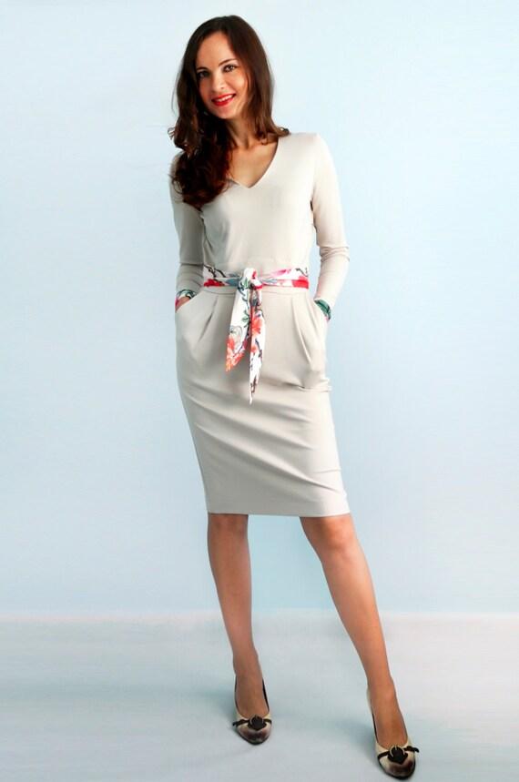 Weißen Kleid Jersey Kleid Die Lange ärmel Herbst Kleid Etsy