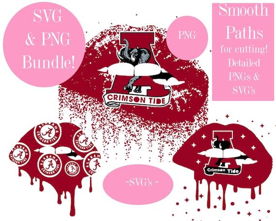 Download Alabama Crimson Tide Svg Bundle Alabama Lips Svg Roll Tide Etsy