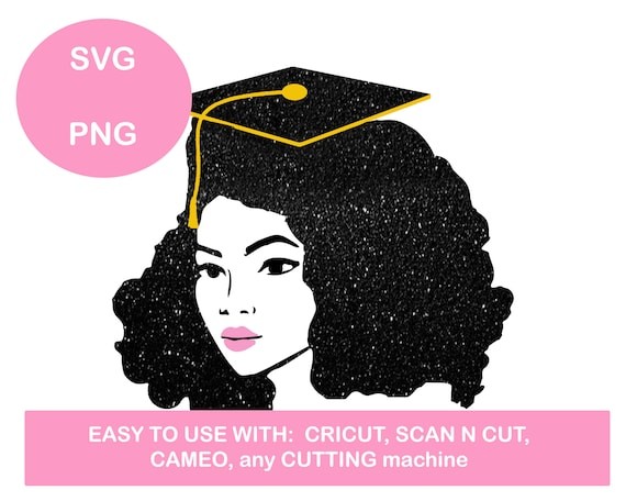 African American Graduation Svg Graduate Svg Afro Graduate Etsy