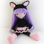 PATTERN : Doll - Crochet pattern - Cat Doll - Amigurumi Doll pattern - Stuffed doll - Doll - toy - baby shower
