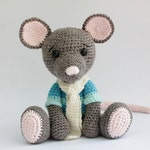 crochet PATTERN : Mouse Mice  Amigurumi Mouse pattern-Crochet pattern-Knitted Stuffed animals- doll-toy-baby shower-rat
