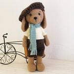 Crochet PATTERN - Dog - Puppy - Amigurumi dog pattern - Crochet pattern-Knitted Stuffed animals- doll-toy-baby shower