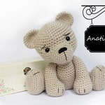PATTERN : Bear-teddy -Amigurumi bear pattern-Bear -Classic Bear-Crochet -Knitted Stuffed animals- doll-toy-baby shower