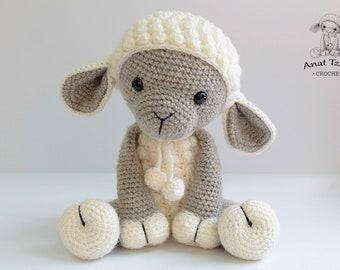 Amigurumi lamb - PATTERN : Sheep - Amigurumi - Sheep - Amigurumi - Lamb - crochet sheep - crochet lamb - Knitted Stuffed animals- doll-toy