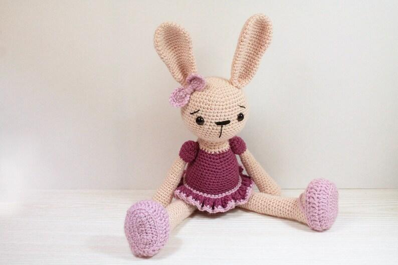 PATTERN : Bunny  Rabbit  Ballerina  Amigurumi-pattern  image 0