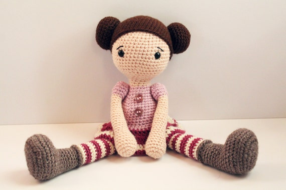 Pattern Doll Crochet Pattern Amigurumi Doll Pattern Etsy