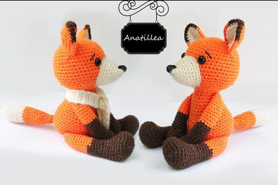 Pattern Fox Amigurumi Fox Pattern Crochet Etsy