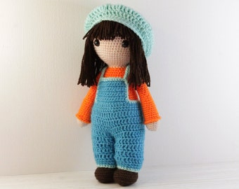 PATTERN : Doll - Crochet pattern - Amigurumi Doll pattern - Stuffed doll - Doll - toy - baby shower