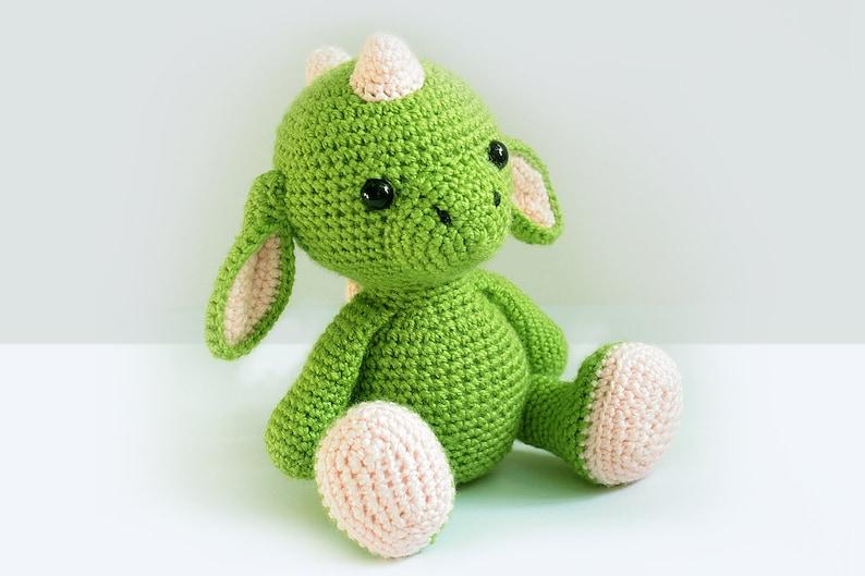 Crochet Dragon PATTERN  Amigurumi Dragon pattern-Crochet image 0