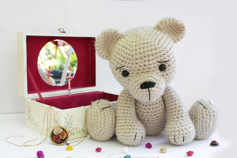 Crochet Bear teddy PATTERN  Amigurumi bear pattern  image 0