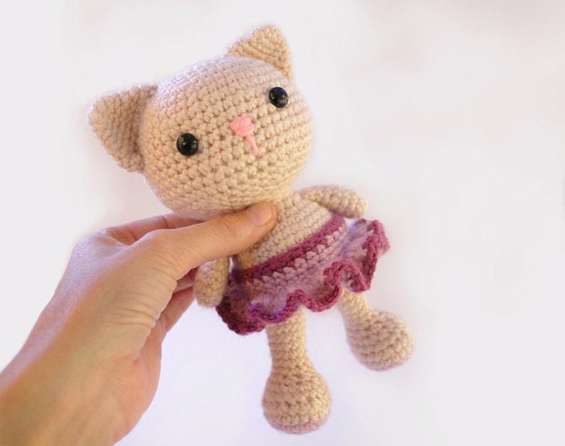 PATTERN : Cat  Kitty  Amigurumi Cat pattern  Crochet image 0