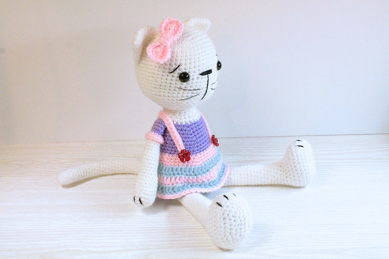 PATTERN : Cat  Kitty  Amigurumi Cat pattern  Cat with a image 0