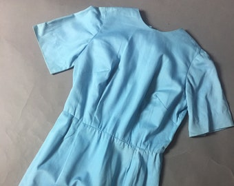 Vintage 60s dress / 1960s dress / day dress / wiggle dress / blue dress / shift dress / party dress / 8570