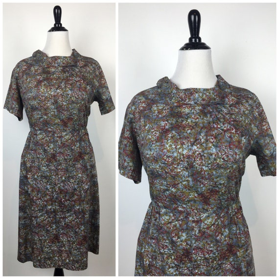 Vintage 50s dress / 1950s dress / Plus Size dress