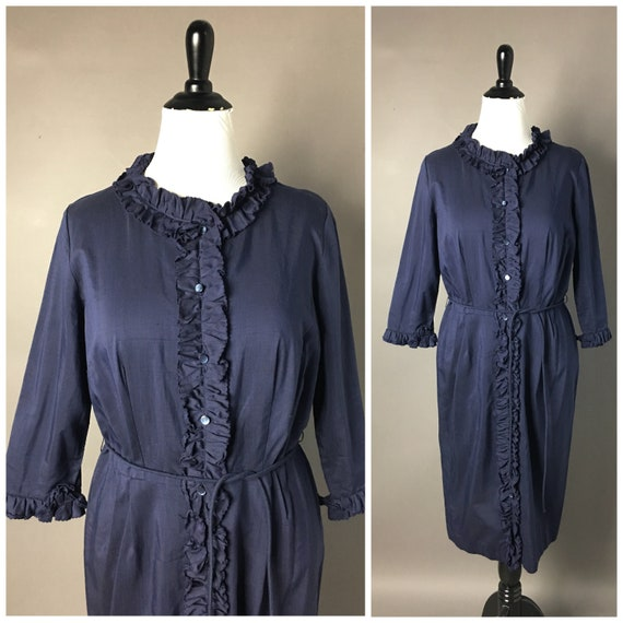 Vintage 70s dress / 1970s dress / shirtwaist dress