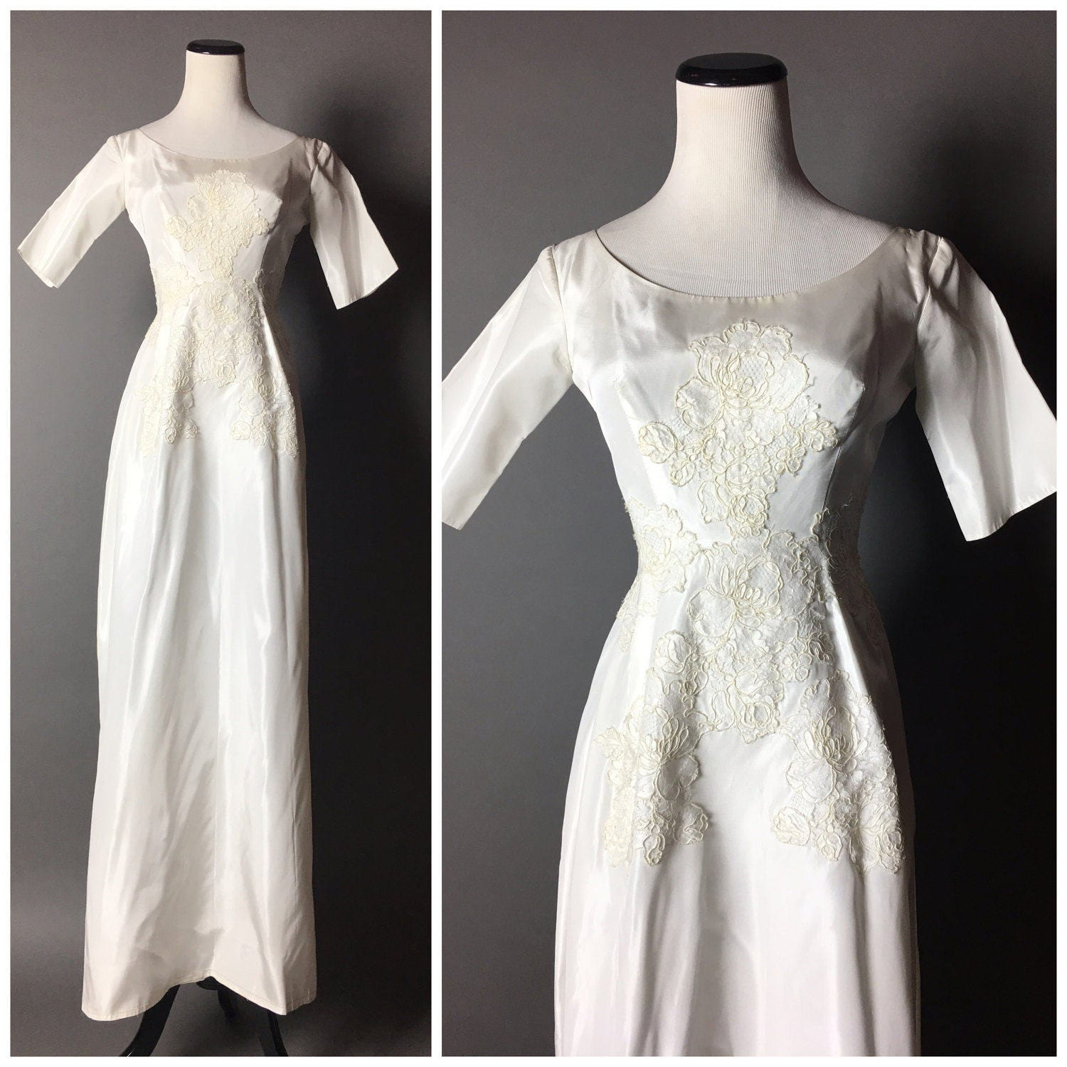 Vintage Wedding Dresses 1960s: Vintage 60s Wedding Dress / 1960s Wedding Dress