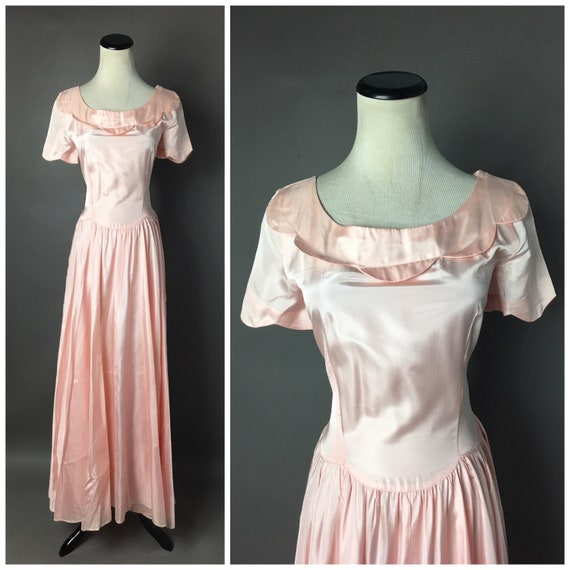Vintage 40s dress / 1940s dress / cocktail dress /