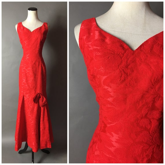 Vintage 50s gown / 1950s gown / 50s dress / mermai