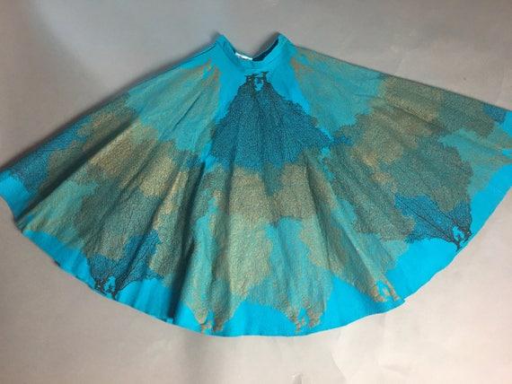 Vintage 50s skirt / 1950s skirt / novelty print sk