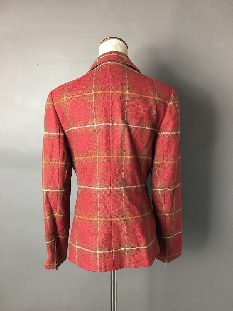 Vintage 80s suit  1980s suit  vintage balzer  plaid blazer  plaid skirt  skirt and jacket set  plaid jacket  suit jacket  3206