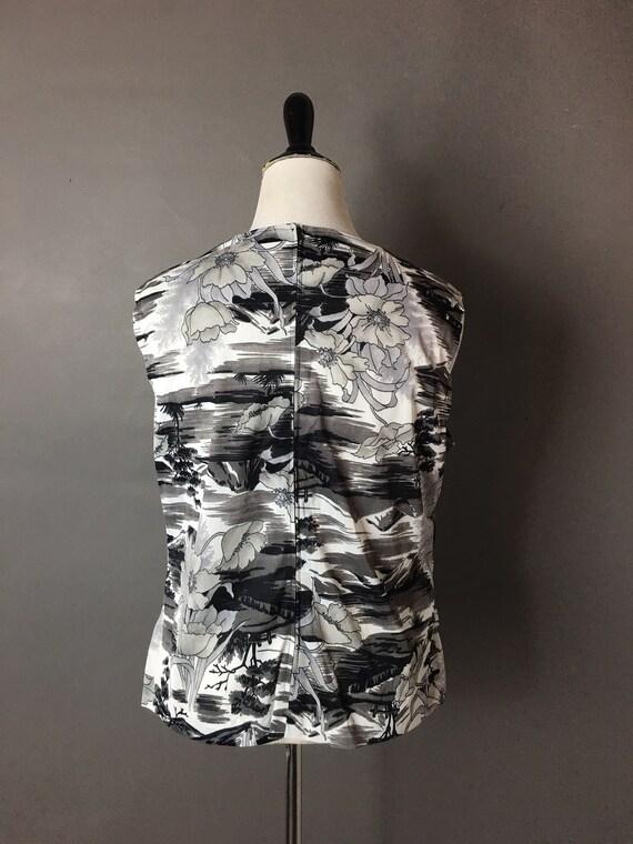 Vintage 80s 90s blouse / 1980s 1990s blouse  / fl… - image 5