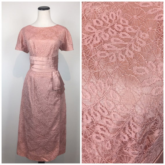 Vintage 50s dress / 1950s dress / SPIDERWEB dress