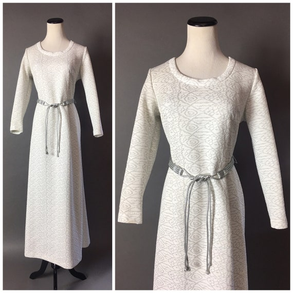 Vintage 70s dress / 1970s dress / lurex dress / pa