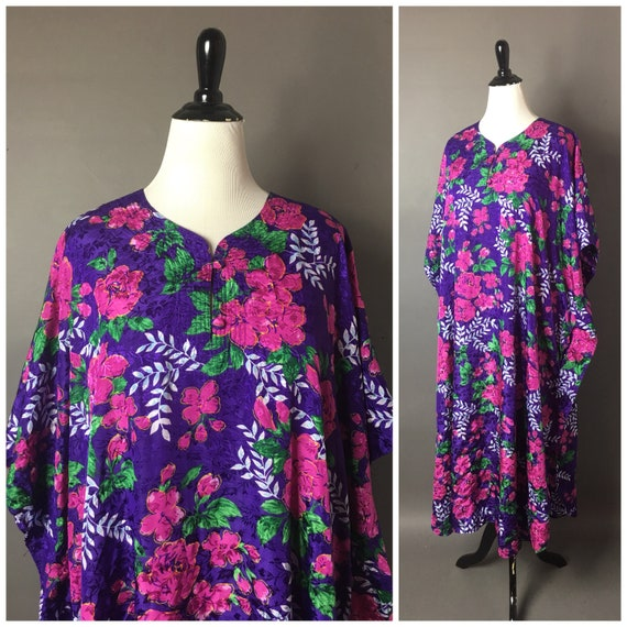 Vintage 80s dress / 1980s dress / vintage caftan /