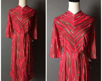 Vintage 60s dress / 1960s dress / striped dress / wiggle dress / party dress / day dress / abstract dress / 8328
