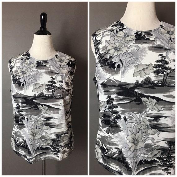 Vintage 80s 90s blouse / 1980s 1990s blouse  / fl… - image 1