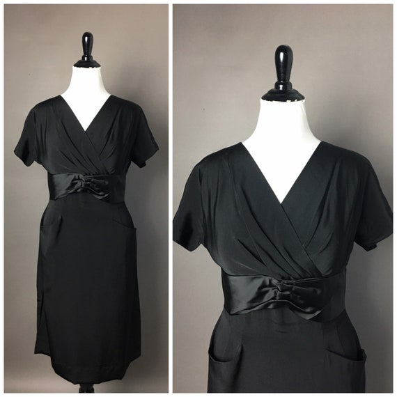 Vintage 50s dress / 1950s dress / volup plus size