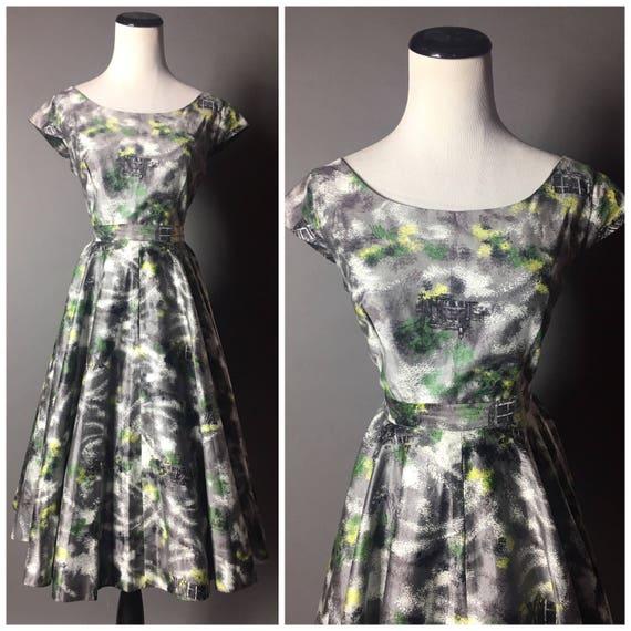 Vintage 50s skirt and top set / 1950s dress / nove