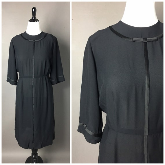 Vintage 50s dress / 1950s dress / volup plus size