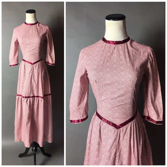 Vintage 70s dress / 1970s dress / floral dress / p