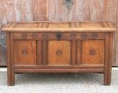 Early 18th Century English Oak Coffer, Trunk, Chest, Antique Chest, Oak Trunk, Storage Trunk, Storage Chest, Blanket Chest, Storage Chest